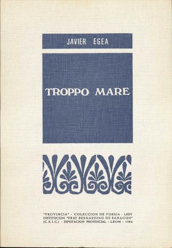Primera edición Troppo Mare, 1984