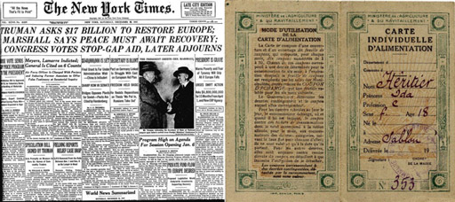 El reparto: Tratado de Postdam 1945, Tratado de París 1947. Reparto de los países vencidos en Europa.