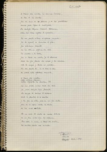 Manuscrito Javier Egea A través del cristal. E-MS-2 (3-1)