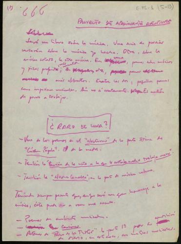 Manuscrito Javier Egea. E-MS-1 (5-13)
