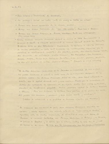 Notas manuscritas cuaderno Sonetos diente de oro. E-MS-1 (2-24)